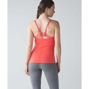 Lululemon Sunset Flow Tank in Cape Red